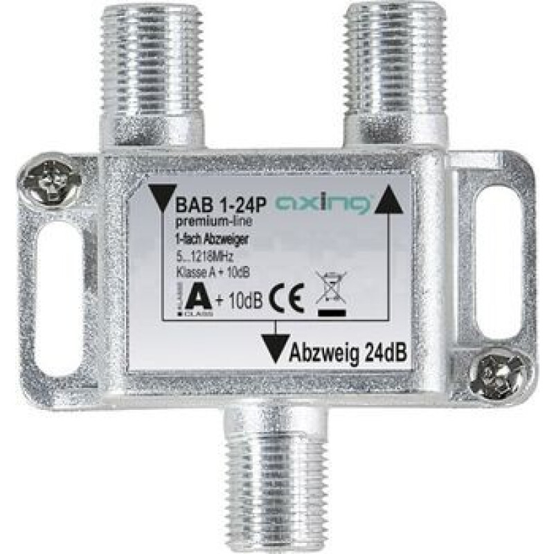 Axing BAB 1-24P Kabel-TV Abzweiger 1-fach 5 - 1218 MHz