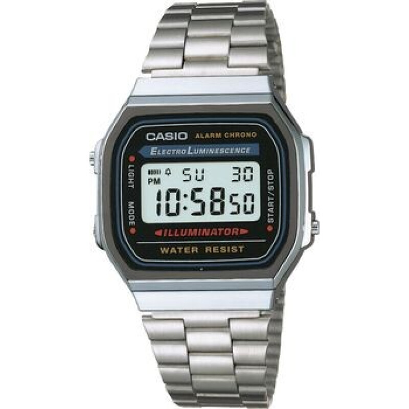 Casio Armbanduhr A168WA-1YES (B x H) 36.30mm x 38.60mm Silber Gehäusematerial=Kunstharz Material (A