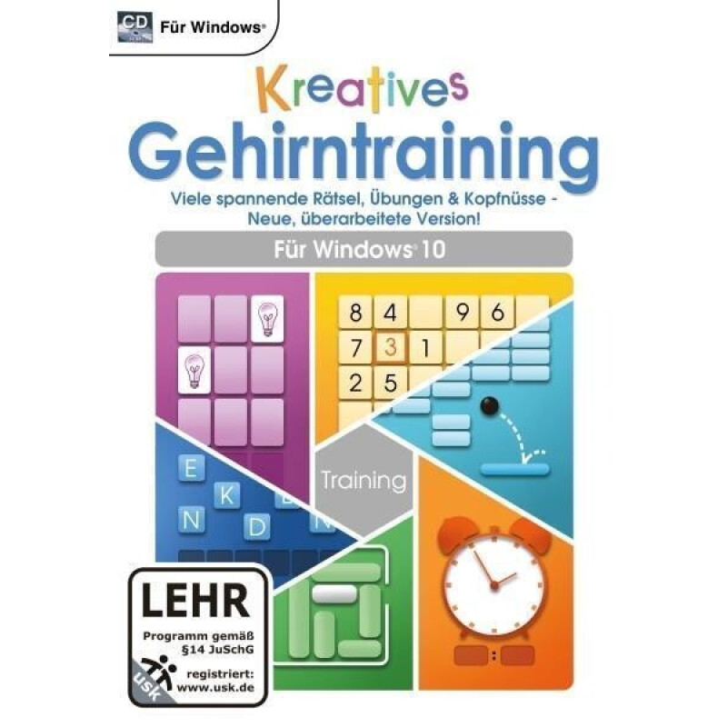 Kreatives Gehirntraining für Windows 10 (CD-ROM)