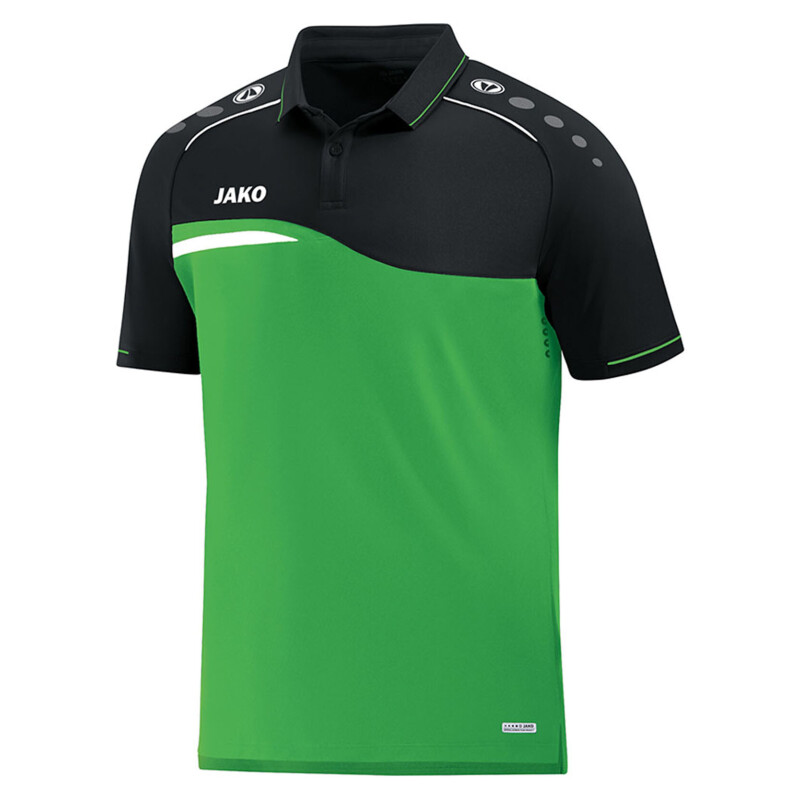 Jako Competition 2.0 Polo Shirt soft green-schwarz Kinder