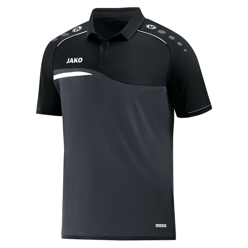 Jako Competition 2.0 Polo Shirt anthrazit-schwarz Kinder