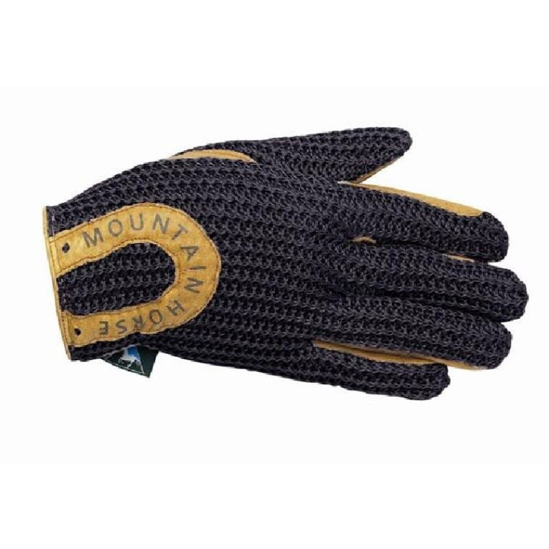 MOUNTAIN HORSE Handschuh CROCHET GLOVE, black, XS