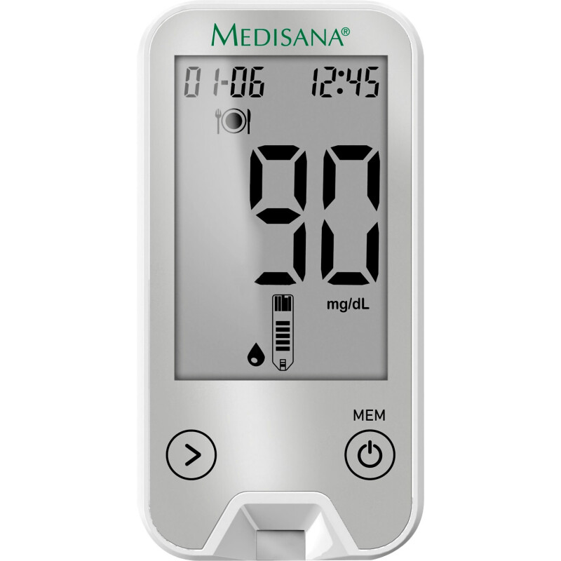 Medisana MediTouch 2 connect mg/dl Grau