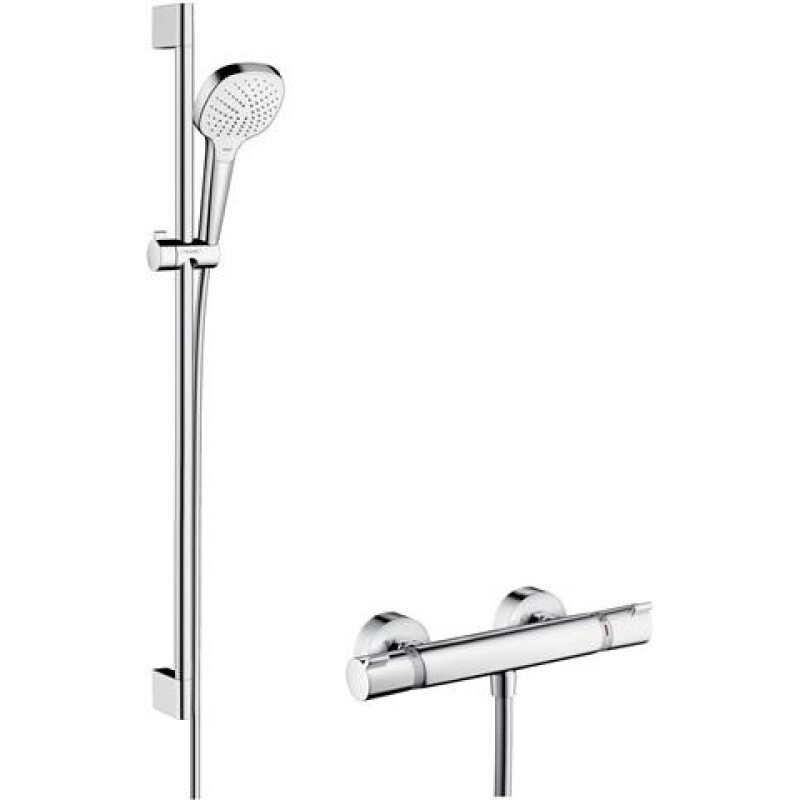 hansgrohe Br.-Set Croma Select E V. Com DN 15, m 90cm Stg, AP-Therm, we/vc