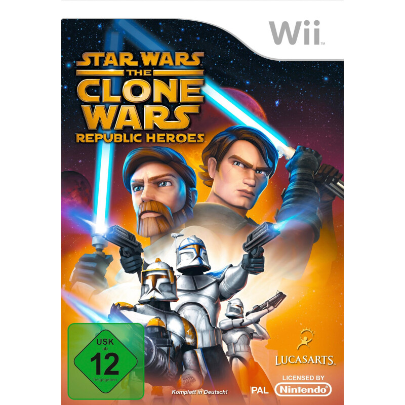Star Wars: The Clone Wars - Republic Heroes Nintendo Wii, Software Pyramide