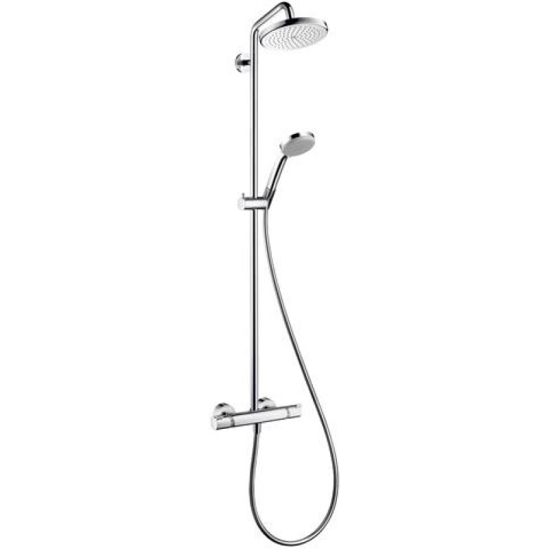 hansgrohe Showerpipe Croma 220 1jet d= 220mm, mit Thermostat, chrom