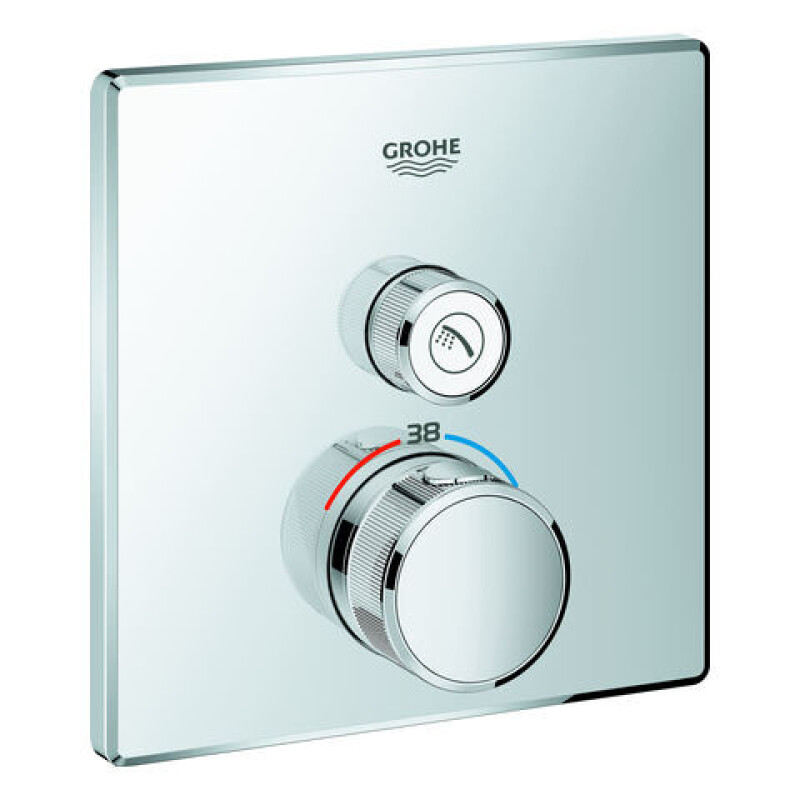 GROHE Thermostat Grohtherm SmartControl29123 eckig FMS ein Absperrventil chrom