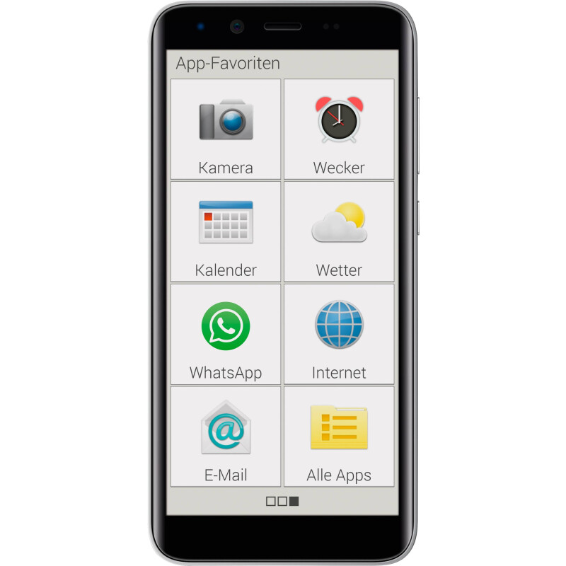 Emporia SMART 3 mini Smartphone 16 GB 5 Zoll (12.7 cm) Single-SIM Android™ 9.0 8 Megapixel Schwarz