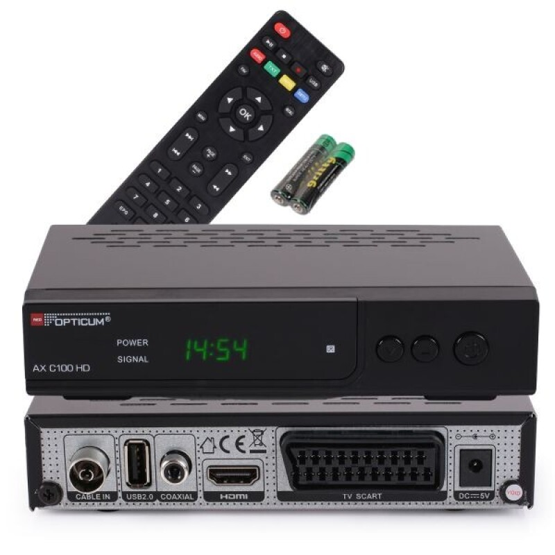 Opticum AX C100 HD ohne PVR Digitaler Kabelreceiver