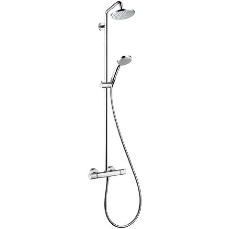 hansgrohe Showerpipe Croma 160 1jet, d= 160mm, mit Thermostat, chrom