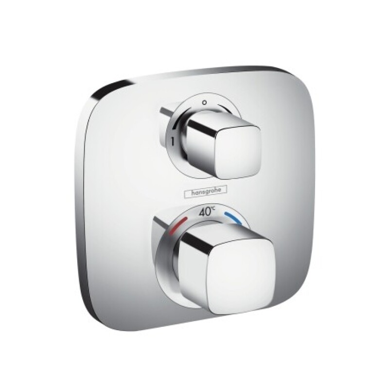 hansgrohe Fertigmontageset Ecostat E UP-Thermostat, 2 Verbraucher, chrom