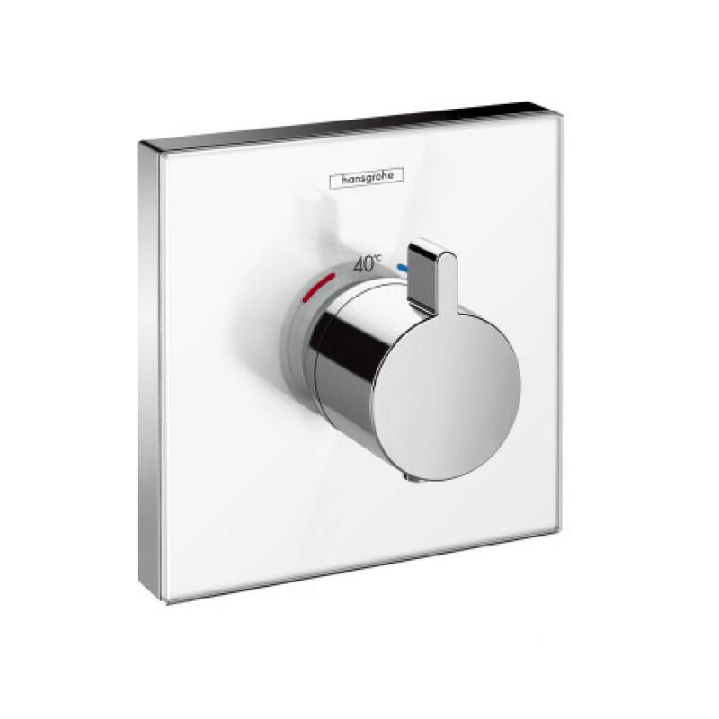 Hansgrohe Thermostat Unterputz ShowerSelect Glas Highflow Fertigset weiß/chrom, 15734400