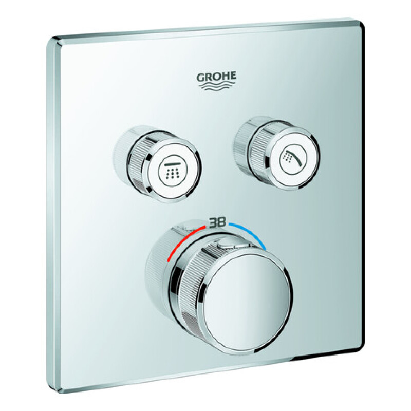 GROHE Thermostat Grohtherm SmartControl29124 eckig FMS 2 Absperrventile chrom