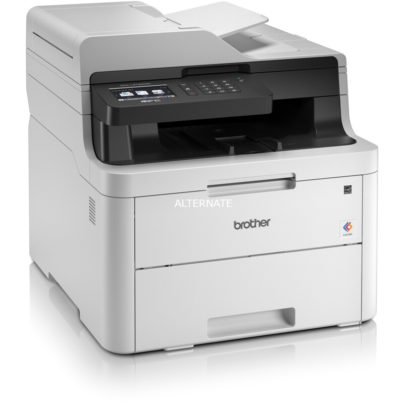 brother MFC-L3730CDN 4 in 1 Farblaser-Multifunktionsdrucker grau