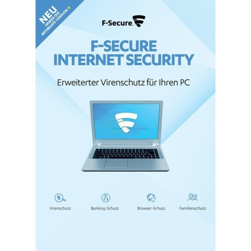 F-Secure Internet Security Update ESD   1 PC 1 Jahr ( 2018 )