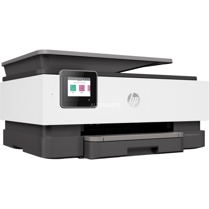 Tintenstrahl-Multifunktionsgerät HP OfficeJet Pro 8022, 4 in 1, Farbe/SW, Smart Tasks, bis A4