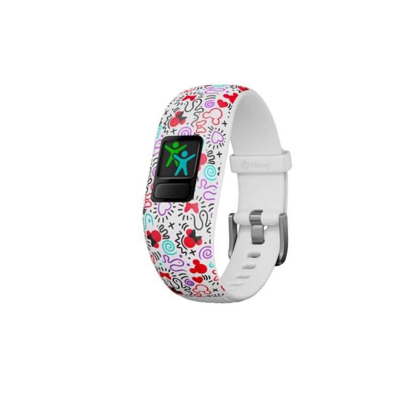 GARMIN VIVOFIT JR 2 DISNEY MINNIE MAUS, Fitnesstracker, 130-175 mm, Weiß/Bunt