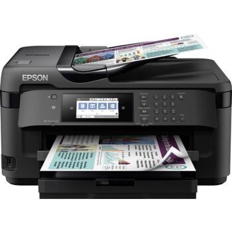 Epson WorkForce WF-7710DWF Farb Tintenstrahl Multifunktionsdrucker A3 Drucker, Scanner, Kopierer, Fax USB, LAN