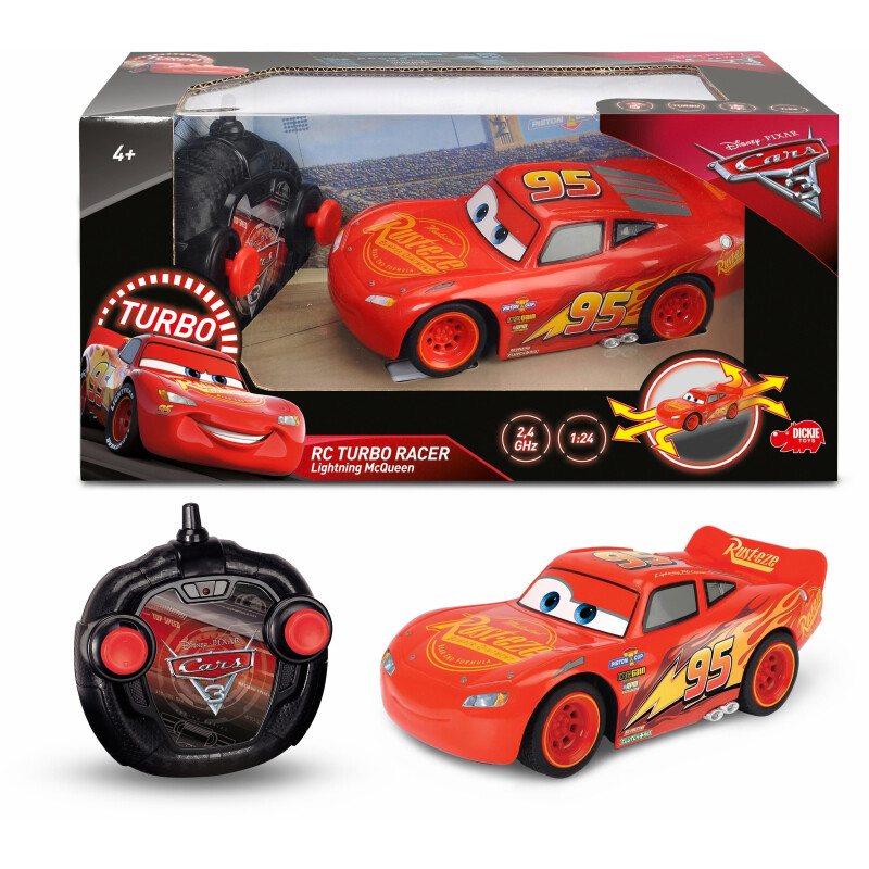 Dickie Toys 203084003 RC Cars 3 Turbo Lightning McQueen 1:24 RC Einsteiger Modellauto