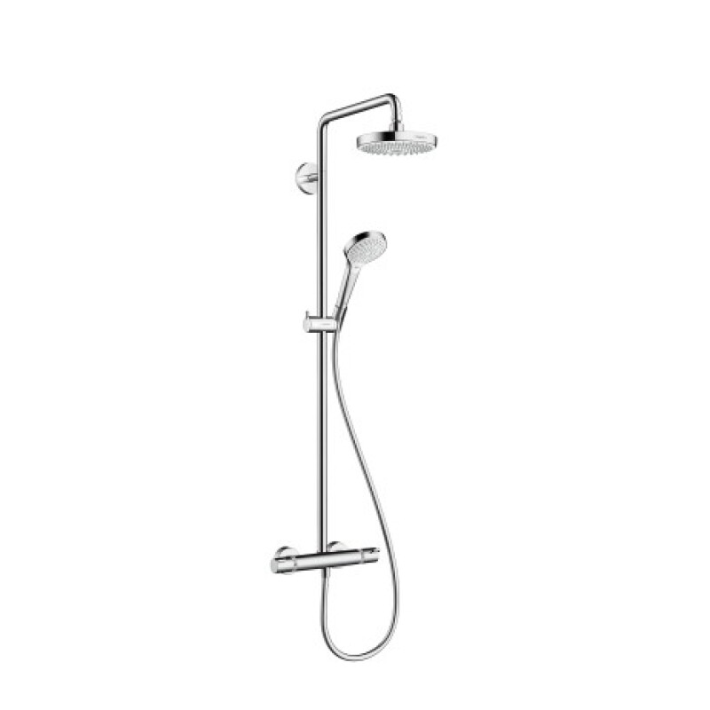 Hansgrohe Showerpipe Duschsystem Croma Select S 180 weiß/chrom, 27253400