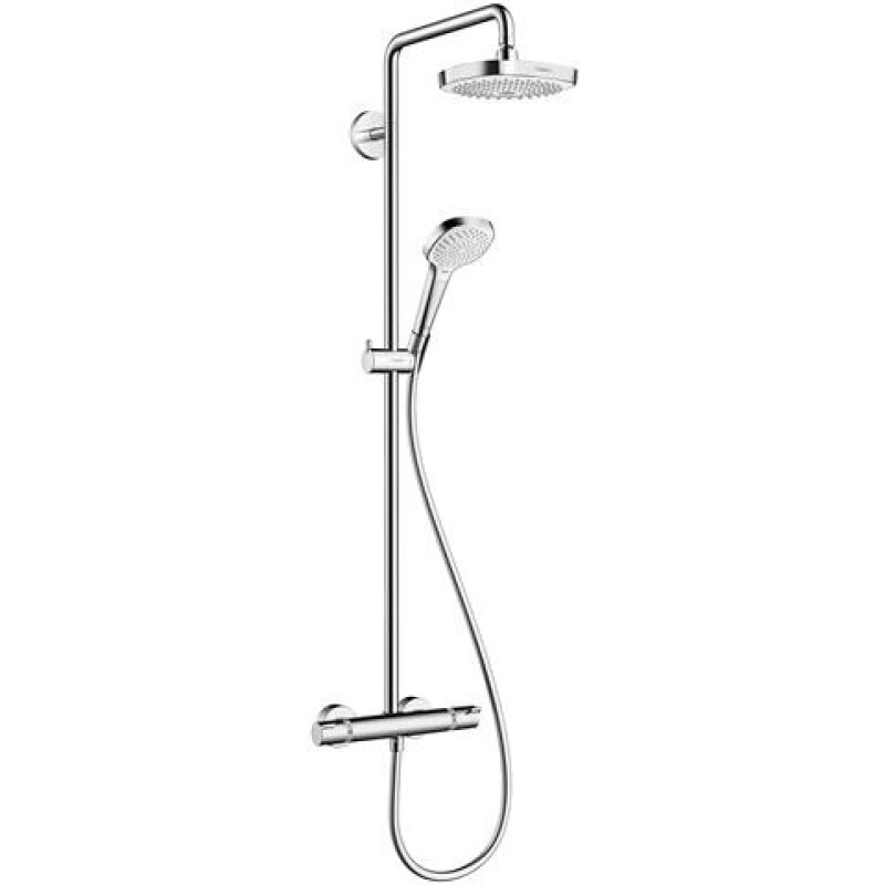 hansgrohe Showerpipe Croma Select E 180 2jet, m THM, m Arm 400mm schw, we/vc