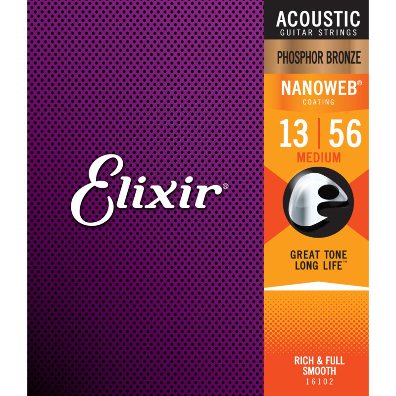Elixir Strings Phosphor Bronze Nanoweb Medium