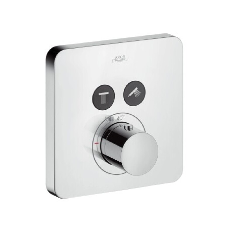 Hansgrohe Thermostat Unterputz Axor ShowerSelect Fertigset 2 Verbraucher chrom, 36707000