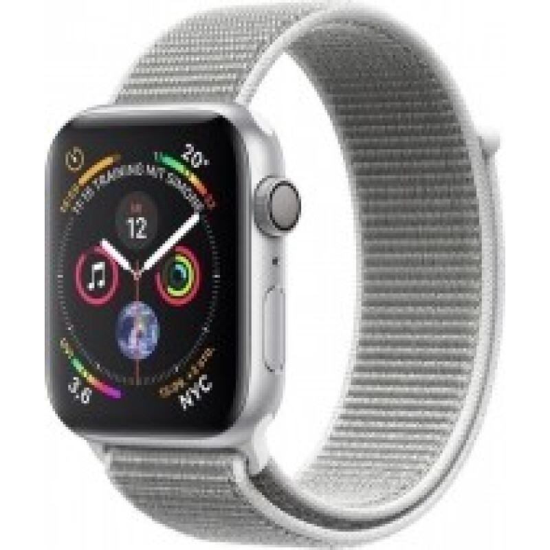 Apple Watch Series 4 GPS + Cellular Aluminium 44mm silber mit Sport Loop muschelgrau - MTVT2FD/A
