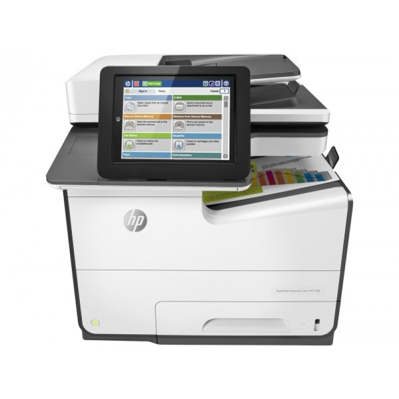 HP PageWide Enterprise Color MFP M586dn 3 in 1 Tintenstrahl-Multifunktionsdrucker weiß