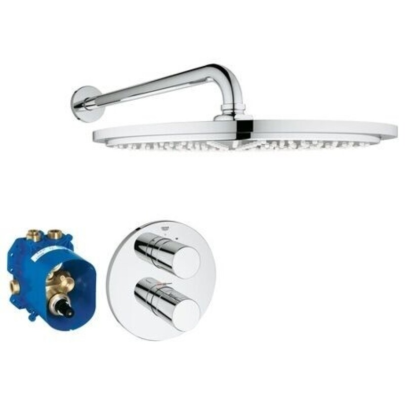 GROHE UP-Duschsystem Grohtherm 3000 C34571 mit UP-Thermostat Kopfbrause chrom