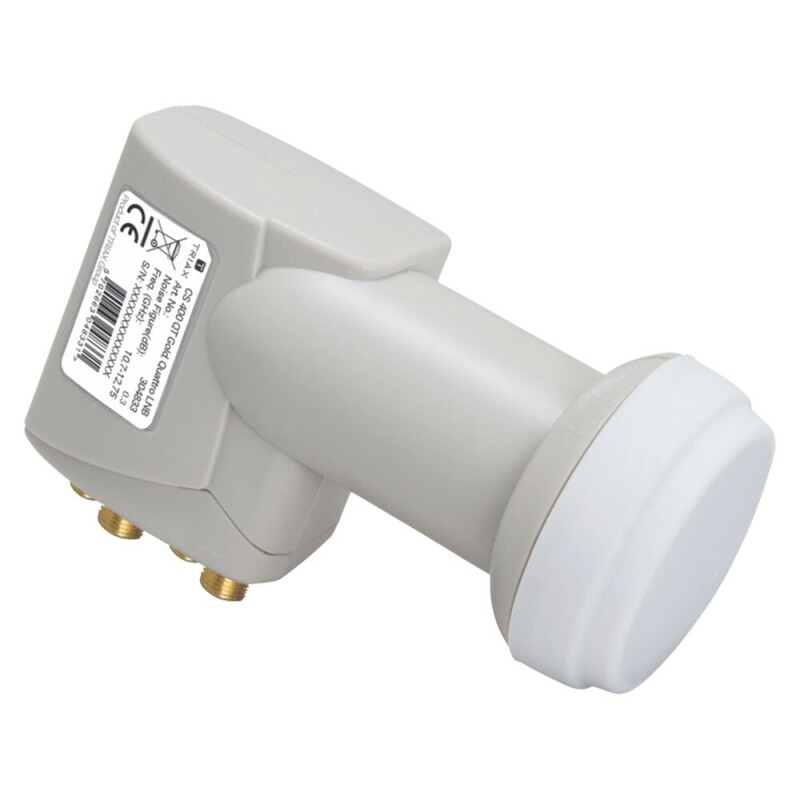 Triax CS 400 QT Gold Quattro Sat LNB HD 40mm Satelliten 0,3dB Digital HDTV