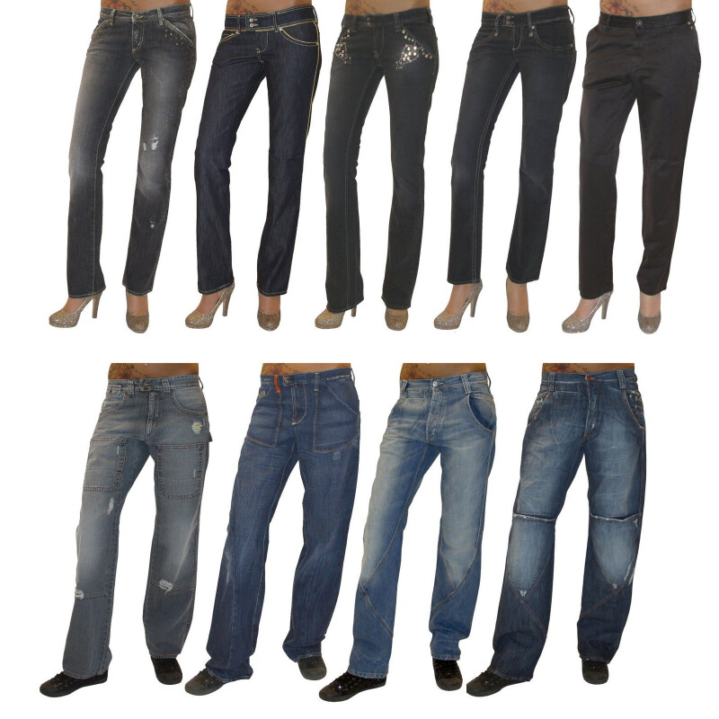 MET Design Damen Stretch Jeans Jeanshose Chino Baggy Hose gerades Bein used Look, Hosengröße: W30, Modell: New Body