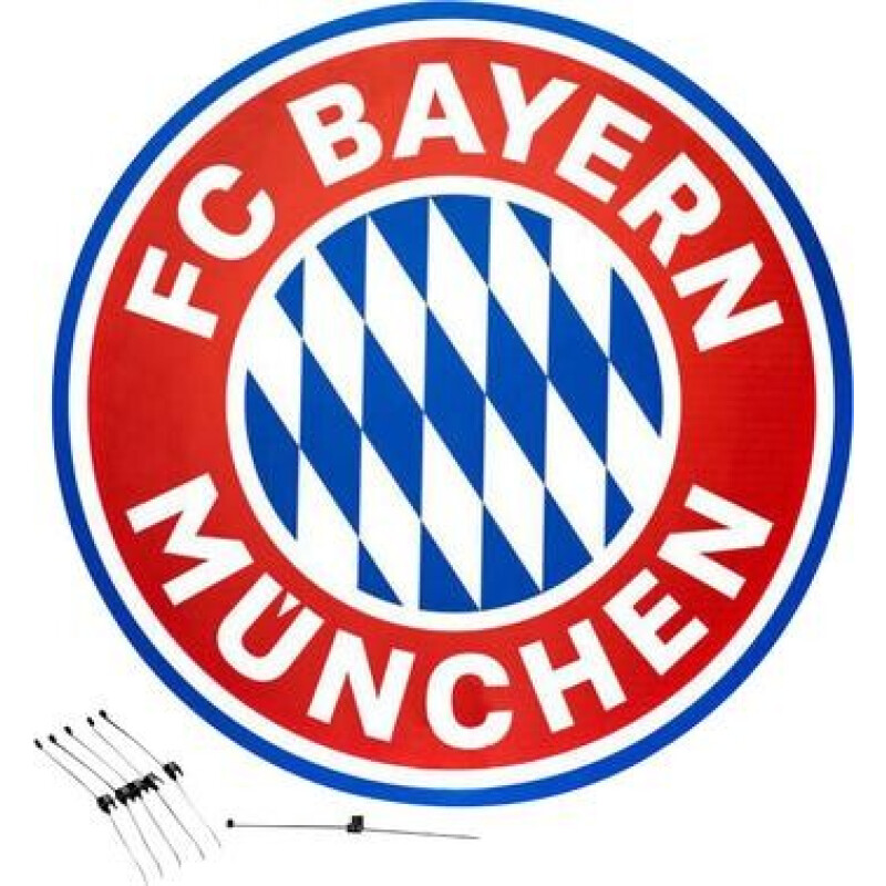 Sky Vision FC Bayern München SAT Antennen-Cover 88 cm  Rot, Weiß
