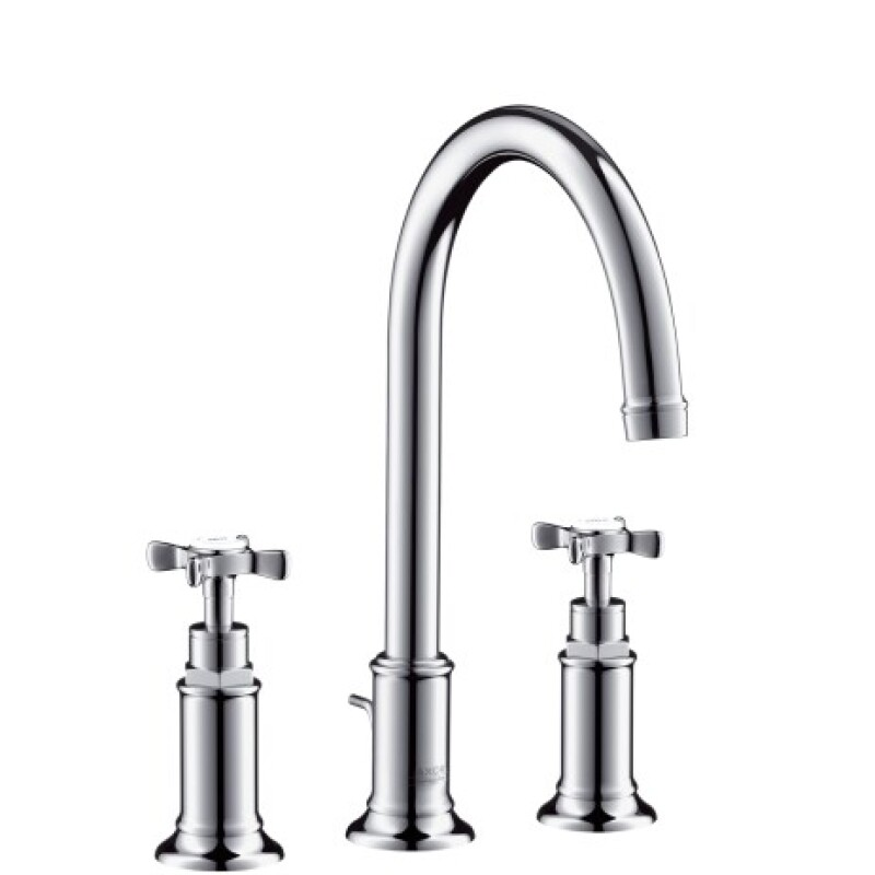 Hansgrohe 3 Loch Waschbeckenarmatur Axor Montreux Standmodell chrom 165 x 13000
